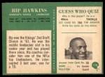 1966 Philadelphia #110  Rip Hawkins  Back Thumbnail