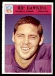1966 Philadelphia #110  Rip Hawkins  Front Thumbnail