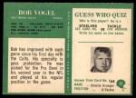 1966 Philadelphia #25  Bob Vogel  Back Thumbnail