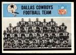 1966 Philadelphia #53   Cowboys Team Front Thumbnail