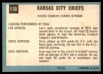 1964 Topps #110   Kansas City Chiefs Team Back Thumbnail