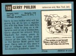 1964 Topps #123  Gerry Philbin  Back Thumbnail