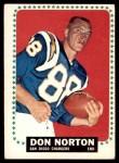 1964 Topps #169  Don Norton  Front Thumbnail