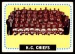 1964 Topps #110   Kansas City Chiefs Team Front Thumbnail