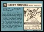 1964 Topps #26  Elbert Dubenion  Back Thumbnail