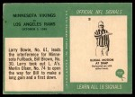 1966 Philadelphia #117   Minnesota Vikings Back Thumbnail