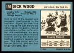 1964 Topps #130  Dick Wood  Back Thumbnail