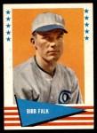1961 Fleer #104  Bibb Falk  Front Thumbnail