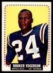 1964 Topps #28  Booker Edgerson  Front Thumbnail
