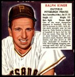 1952 Red Man #12 NL x Ralph Kiner  Front Thumbnail