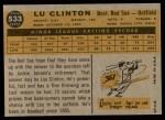 1960 Topps #533  Lu Clinton  Back Thumbnail