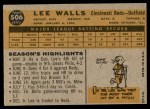1960 Topps #506  Lee Walls  Back Thumbnail
