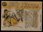 1960 Topps #571   -  Bill Pierce All-Star Back Thumbnail