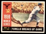 1960 Topps #387   -  Carl Furillo 1959 World Series - Game #3 - Furillo Breaks Up Game Front Thumbnail