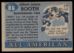 1955 Topps #86  Albie Booth  Back Thumbnail