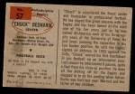 1954 Bowman #57  Chuck Bednarik  Back Thumbnail