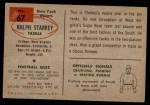 1954 Bowman #67  Ralph Starkey  Back Thumbnail