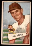 1952 Bowman Large #14  Paul Brown  Front Thumbnail