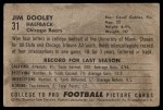 1952 Bowman Large #31  Jim Dooley  Back Thumbnail