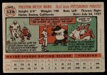 1956 Topps #328  Preston Ward  Back Thumbnail