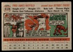 1956 Topps #318  Fred Hatfield  Back Thumbnail