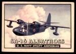 1952 Topps Wings #79   SA-16 Albatross Front Thumbnail