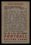 1951 Bowman #82  Bosh Pritchard  Back Thumbnail