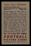 1951 Bowman #112  Paul Younger  Back Thumbnail