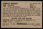 1952 Bowman Large #139  Jerry Shipkey  Back Thumbnail