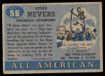 1955 Topps #56  Ernie Nevers    Back Thumbnail