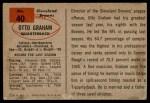 1954 Bowman #40  Otto Graham  Back Thumbnail