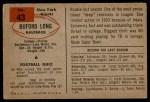 1954 Bowman #43  Buford Long  Back Thumbnail