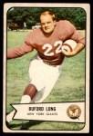 1954 Bowman #43  Buford Long  Front Thumbnail