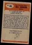 1955 Bowman #46  Billy Johnson  Back Thumbnail