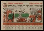 1956 Topps #285  Eddie Miksis  Back Thumbnail