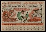 1956 Topps #269  Jack Meyer  Back Thumbnail