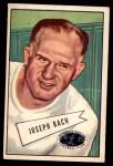 1952 Bowman Large #53  Joseph Back  Front Thumbnail