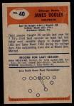 1955 Bowman #40  Jim Dooley  Back Thumbnail