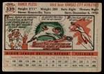 1956 Topps #339  Rance Pless  Back Thumbnail