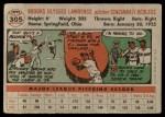 1956 Topps #305  Brooks Lawrence  Back Thumbnail