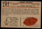 1953 Bowman #80  Jim Dooley  Back Thumbnail