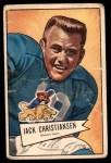 1952 Bowman Large #129  Jack Christiansen  Front Thumbnail