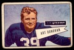 1952 Bowman Large #46  Art Donovan  Front Thumbnail