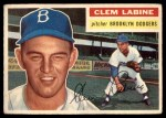 1956 Topps #295  Clem Labine  Front Thumbnail