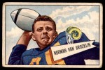 1952 Bowman Large #1  Norm Van Brocklin  Front Thumbnail