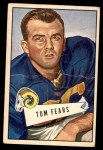 1952 Bowman Large #13  Tom Fears  Front Thumbnail