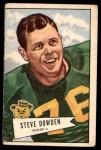 1952 Bowman Large #40  Steve Dowden  Front Thumbnail