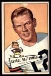 1952 Bowman Large #111  George Ratterman  Front Thumbnail