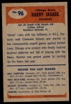 1955 Bowman #96  Harry Jagade  Back Thumbnail
