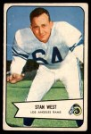 1954 Bowman #103  Stan West  Front Thumbnail